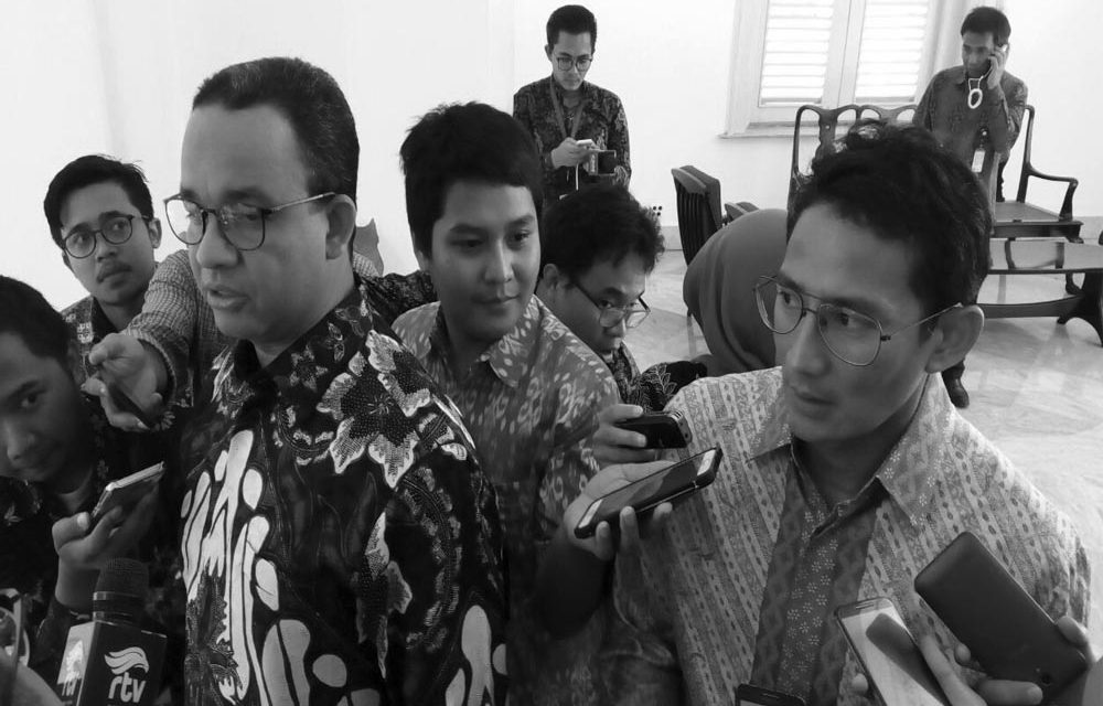 Anies, Sandi, and Jokowi on the Jakarta Bay Reclamation Project