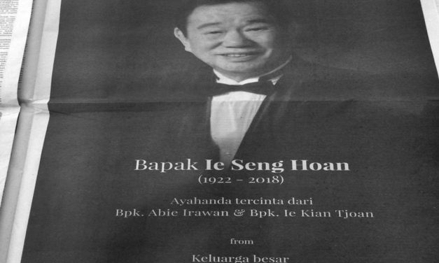Ie Seng Hoan Passes Away