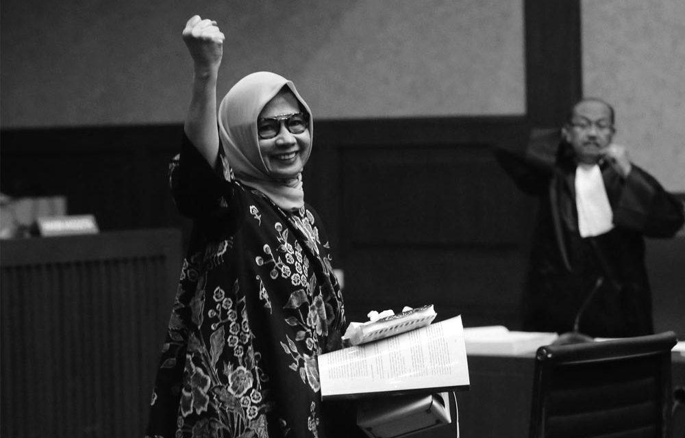 Karen Agustiawan is Free